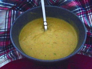 Homemade Carrot and Coriander Soup